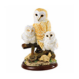 BARN OWL WITH OWLETS Biblo           - A25054