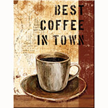 Best Coffee in Town Magnet  - 14222