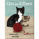 Cats and Kittens Magnet  - 14242