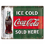 Cocacola - Ice Gold Metal Pano  - 26174