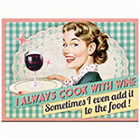 Cook With Wine Magnet  - 14280