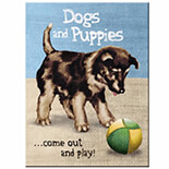 Dogs and Puppies Magnet  - 14316