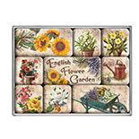 English Flower Garden Magnet Set  - 83042