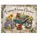 English Flower Garden Metal Pano - 26131A