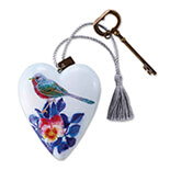 Floral Bird Art Heart  - 1003480018