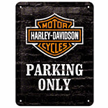 Harley Parking Only Metal Pano