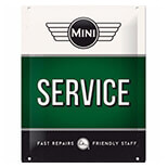 Mini Service Green Metal Pano  - 26185A