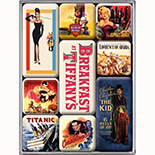 Movie-Art Retro Magnet Set  - 83007