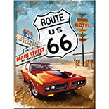 Route 66 Red Car Magnet  - 14229