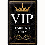 VIP Parking Only Metal Pano  - 22193