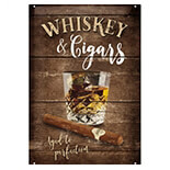 Whiskey Cigars Metal Pano - 22257