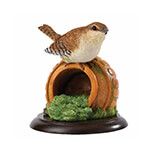 WREN ON HERB POT Biblo       - A26084